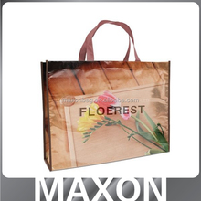 High quality full color printing Laminated pp non woven tote bag