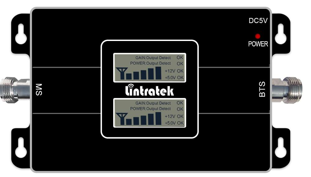 Lintratek Amplificateur GSM DCS Dual Band Signal Booster 2G 900MHz + 4G LTE 1800MHz Cell Phone Signal Amplifier