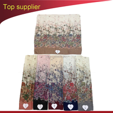 Fashion 2017 scarf factory bulk wholesale china woman's voile scarf