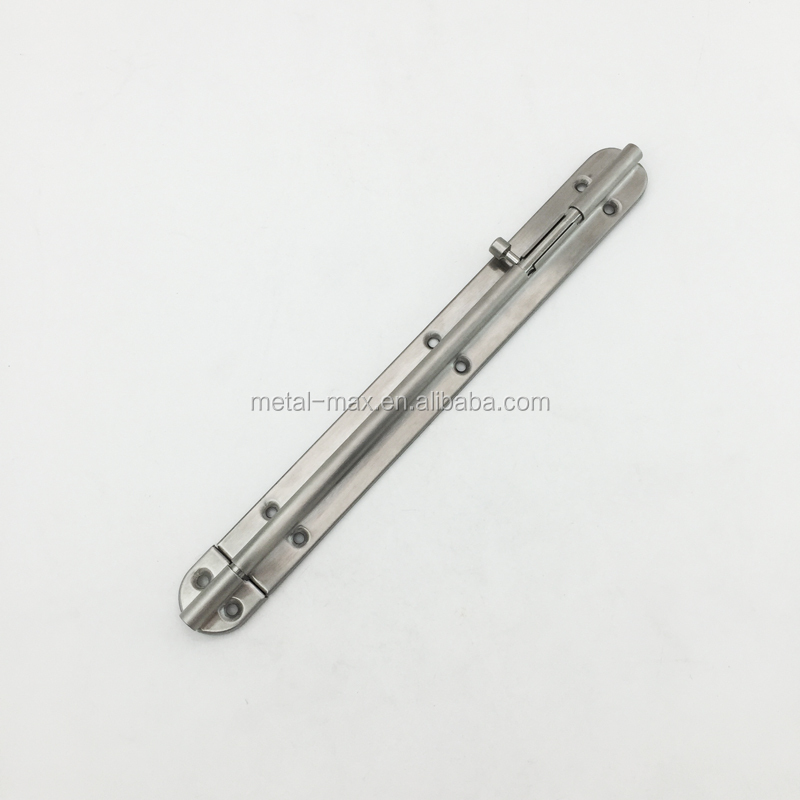 Stainless steel wholesale sliding tower door bolt with round radius