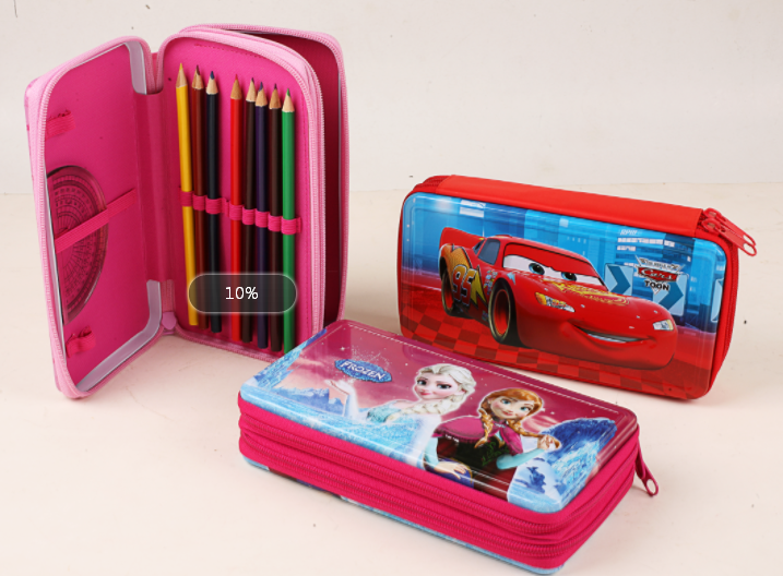 2017 High Quality Tin Zippered Pencil Case With Low Price