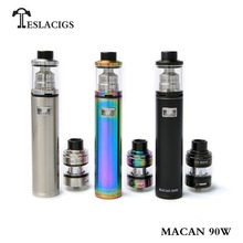 China supplier original Tesla macan 90w pen style vape device tank starter kit