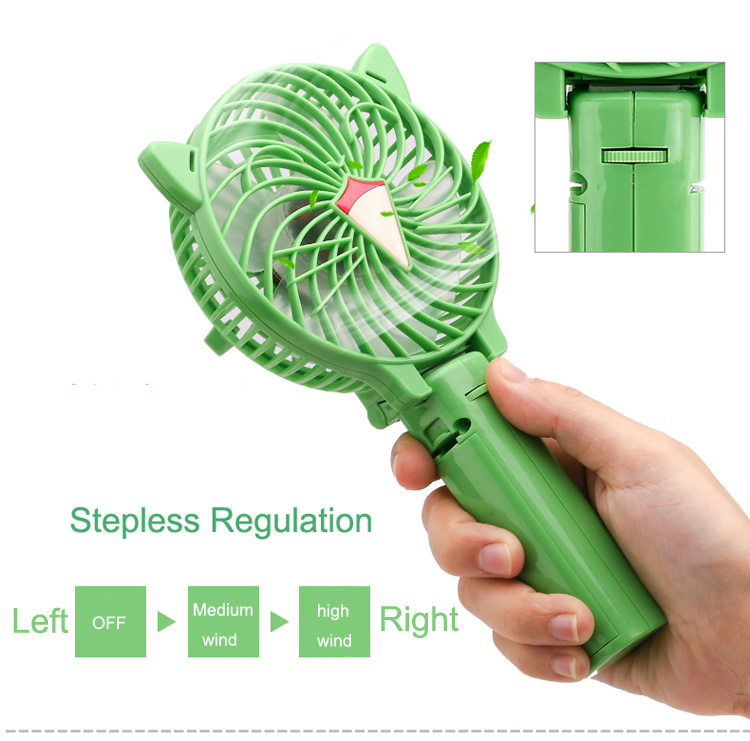 high speed handheld led mini fan