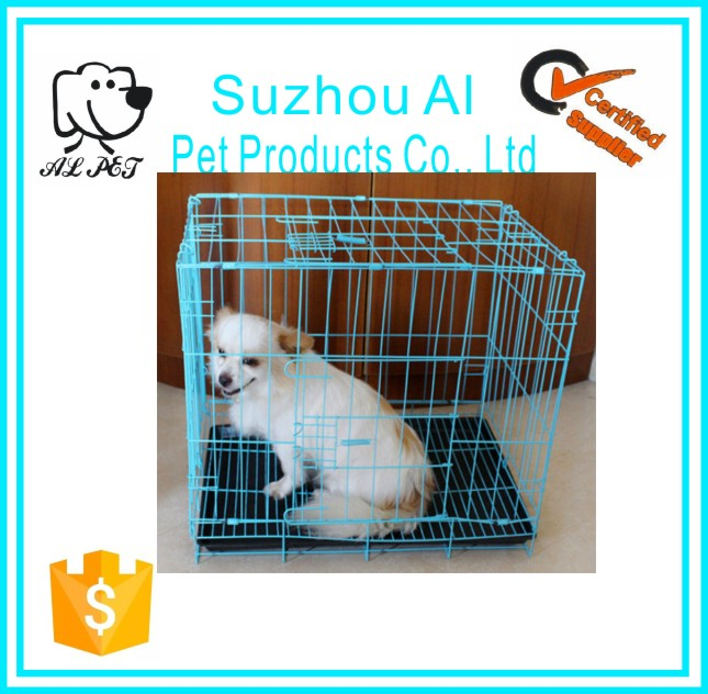 Best Selling Folding Metal Pet Dog Crate Kennel Cat Cage Carrier