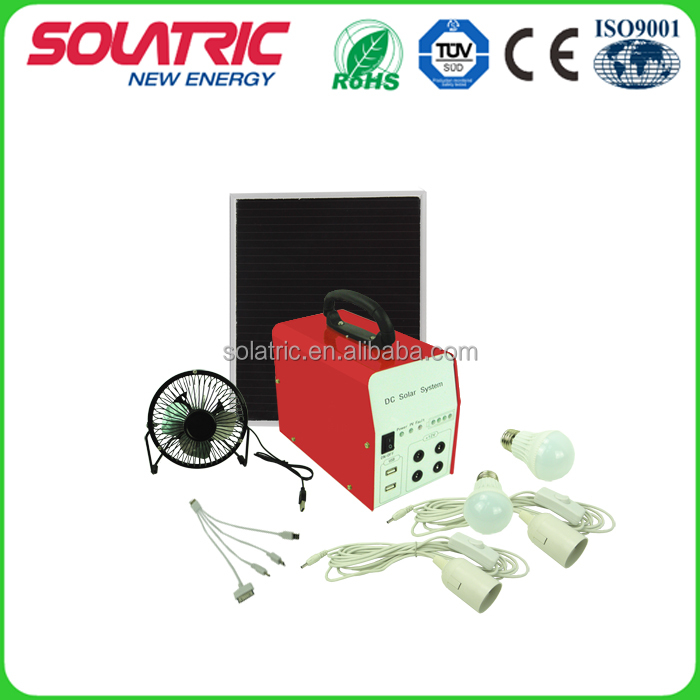 6W/7AH portable mini home solar power system for home lighting