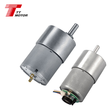 Screw-thread shaft 24v dc gear motor with encoder or generator