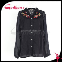 Hand Embroidery Designs for Fashion Casual Blouse