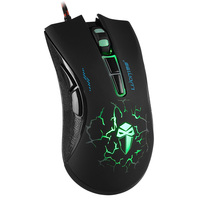 Adjustable 4000 DPI computer optical 6D drivers USB gaming mouse with multicolor breath LED light