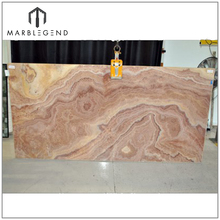 lowest price well polished natural backlit marble Kilimaniaro onyx slabs