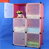 Free standing closet modern bed side cabinet wardrobe designs for small bedroom FH-AL0023-6
