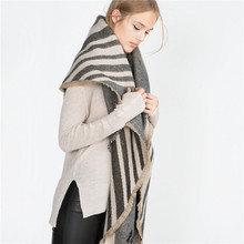 2017 Top Design Thick Cashmere Scarf Fashion Women Wrap Ladies Shawl Girls Large Scarves Long Cotton Scarf