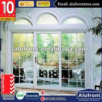 Special Shape Aluminum Sliding Arched Door