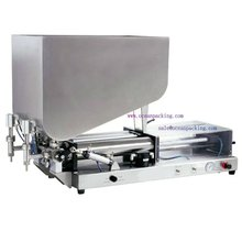 pneumatic cosmetic filling machine with 2heads for honey / syrup / cream / paste