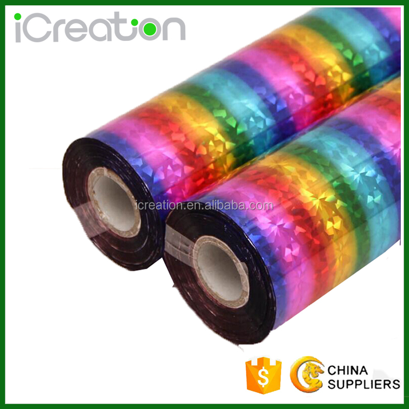 Laser Foil Type and Plastic paper Garments Application Rainbow Hot Stamping Foil