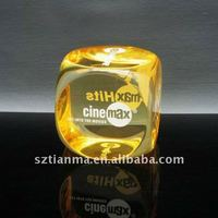 2013 new products acrylic big dices promotional souvenir
