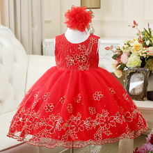 New Product Kids Frock Designs Pictures Embroidered Kids Girls Wedding Party Dresses