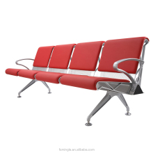 4 seater modular Aluminum type link chair for airport wating area with Pu padding