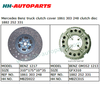 Clutch Plate 1861 303 248, Clutch Cover 1882 252 331 for Benz Truck High Quality Clutch Kit