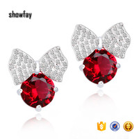 7120 Showfay Jewelry Platinum Plated Cubic Zirconia Luxury Stud Earrings