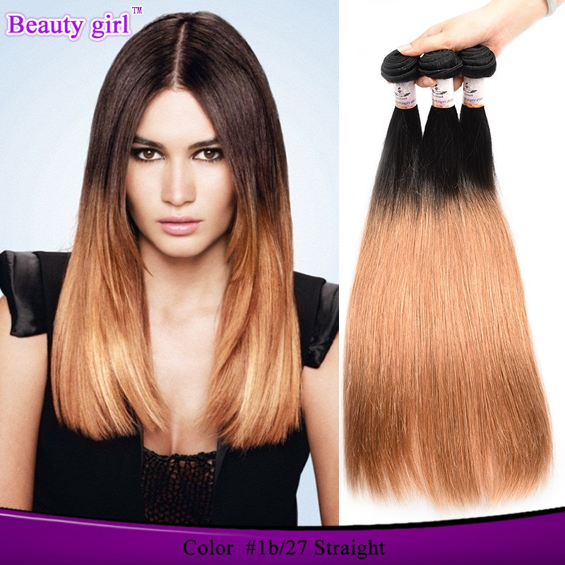 Top Grade cheap virgin mongolian human hair , ombre hair extension yaki perm straight hair