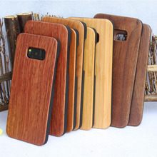 Wholesale Blank PC Nature Wood Bamboo Phone Case For Samsung Galaxy S8 S8 Plus