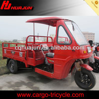 HUJU 200cc semi cabin bike / three wheel motor cabin tricycle / bike taxi motorized for sale