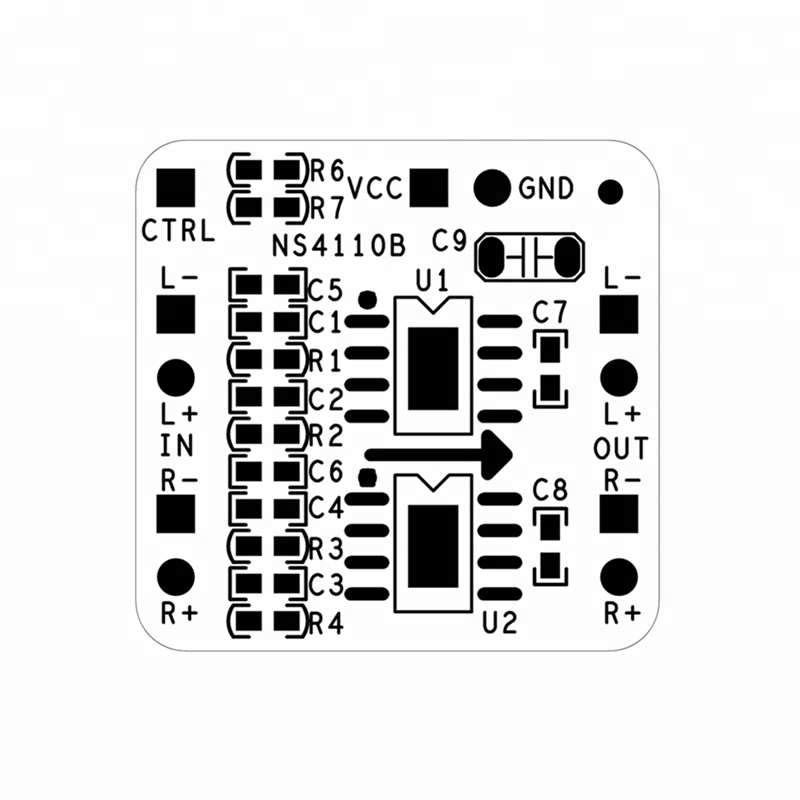 amplificador diferencial junta 2x18 w digital de clase d