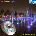 9W IP68 Underwater Light DMX RGB Outdoor Led Fountain Lights