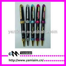 Promotional crystal copper pen rhinestone excutive pen