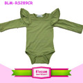 Newborn Photography Props Toddler Blank Kids Flutter Bodysuit Wholesale Long Sleeve Flutter Wing Onesie