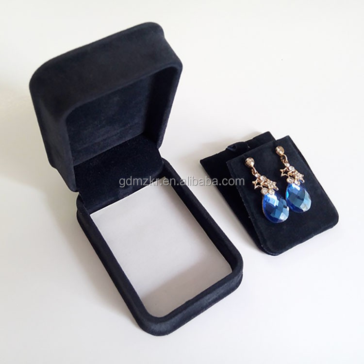 Custom made luxury velvet jewelry packaging box earring gift box wholesale