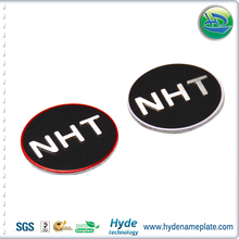 Super strong adhesive sticker type metal round sticker for headphone