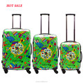 high quality designer custom print travel luggage bags Trolley for travel