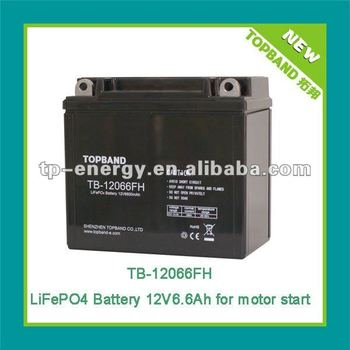 Popular jump start motorcycle battery12V6.6Ah