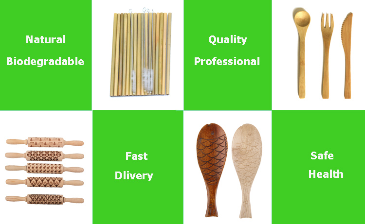 high quality fish design nature wooden rice spoon