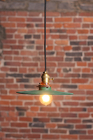 The Kipling Industrial pendant lamp with small metal shade. Lamp is UL listed