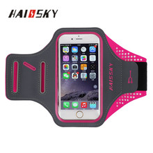 "Haissky 5.5"" Customized OEM & ODM Running Sports Armband Mobile Phone Case for Iphone 6p/7p/8p/x Sumsung Galaxy S7 Edge Note 5"