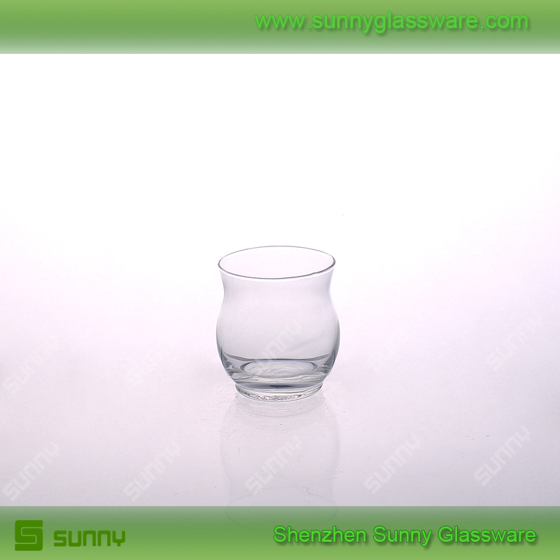 Clear glass water tumbler wine goblet juice cup
