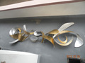 3D metal wall art suspend sculpture metal wall sculptures for ornament