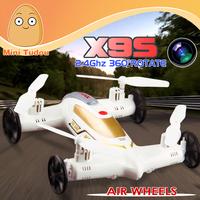 Minitudou Flying Car Wholesale Syma X9S radio control 4CH 2.4G Drone Car 2 in 1 Quadcopter RTF