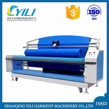knitted fabric back winding winder machine for counting meters in roll