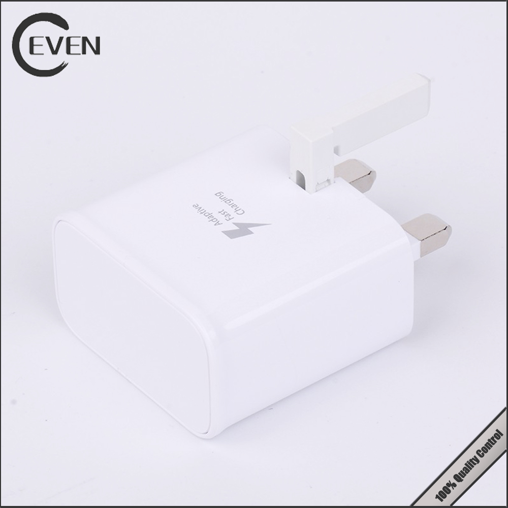 newest fast charger for samsung charging adapter genuine s6 fast charger adapter 9v UK plug
