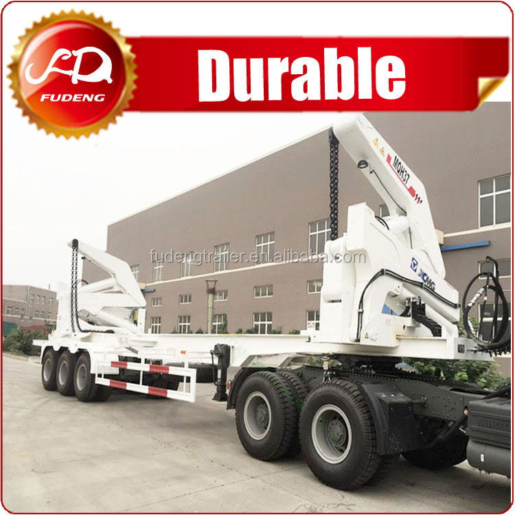Fudeng Factory Supply 40 ft Used Self Loading Container Truck for lifting container