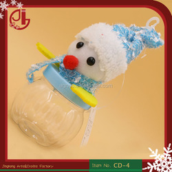 Indoor Christmas Round Candy Box Snowman Christmas Candy Jar