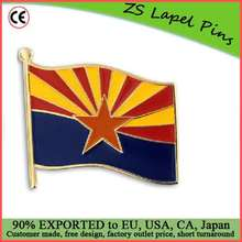 Custom high quality Arizona State Flag AZ Lapel Pin