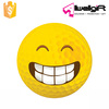 Custom Yellow Golf Balls Grin Emoji Practice Golf Balls