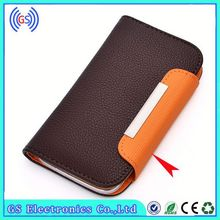 Leather Universal Flip Phone Case Luxury Lichi Wallet Leather Case With Metal Buckle Paypal Accepted