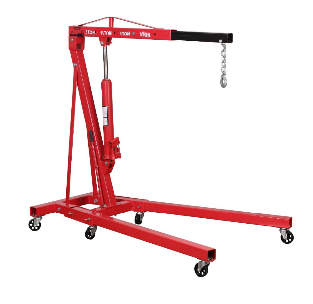 2 Ton Folding hydraulic Engine Hoist Shop crane lift