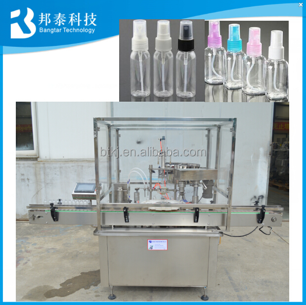 2-200ml Small spray bottle filling capping and labeling machine