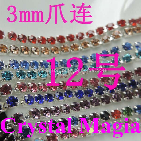 wholesale 3mm rhinestone crystal strip in yard